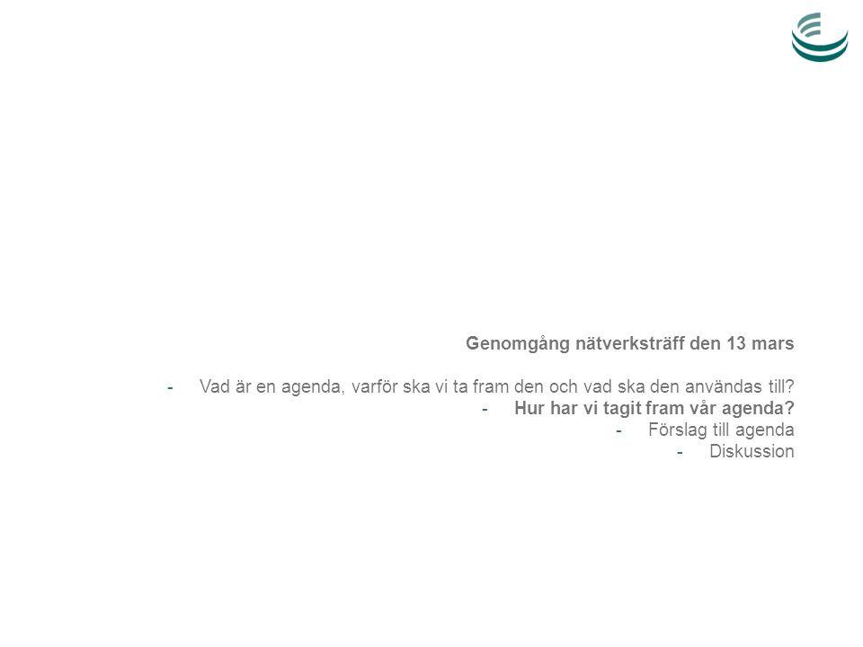 Agendaarbetet: en integrerad del av Avfall Sveriges exportsatsning 2012-2014 Avfall Sveriges exportsatsning 2012-2014 Avfall Sveriges exportsatsning Sept 2012-mars 2013: Agendaarbetet Agendan fortsätter att utvecklas och uppdateras inom ramen för exportsatsningen Agendan presenteras