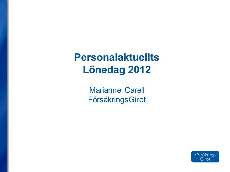 Personalaktuellts Lönedag 2012 Marianne Carell FörsäkringsGirot