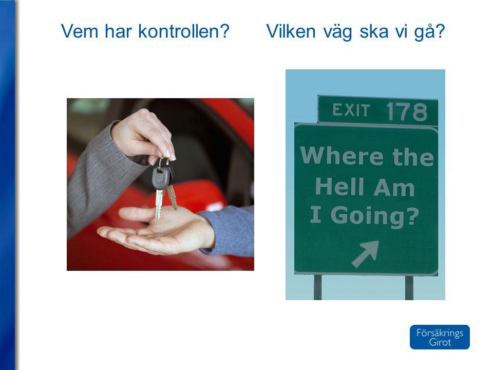 Vem har kontrollen?Vilken väg ska vi gå?