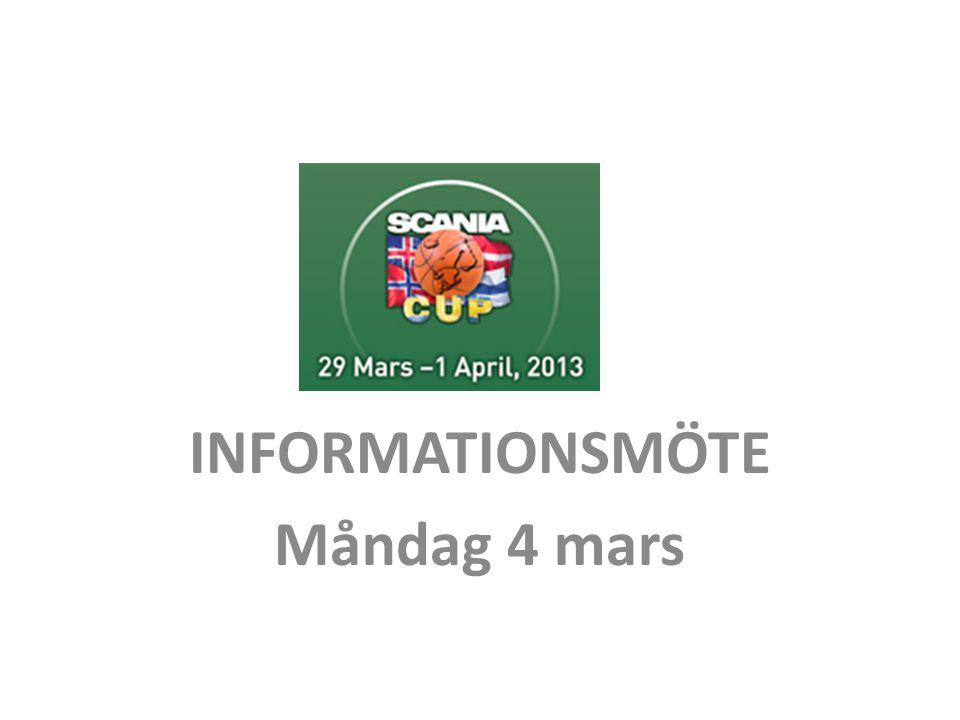 INFORMATIONSMÖTE Måndag 4 mars