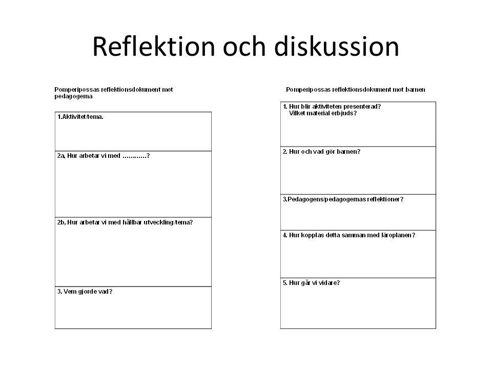Reflektion och diskussion