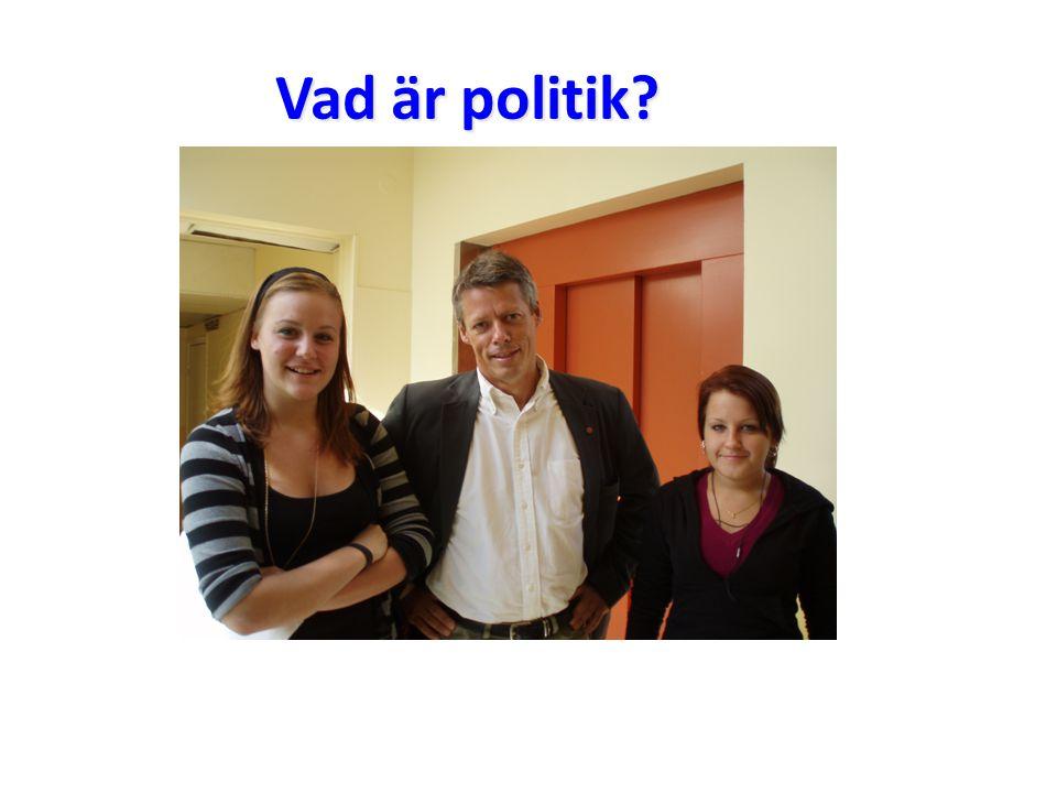 Vad är politik?