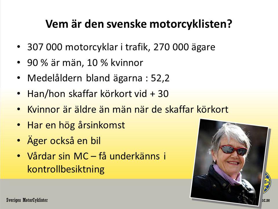 Vem är den svenske motorcyklisten.