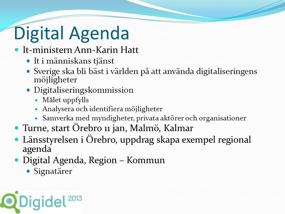Digital Agenda  It-ministern Ann-Karin Hatt  It i människans tjänst  Sverige ska bli bäst i världen på att använda digitaliseringens möjligheter 