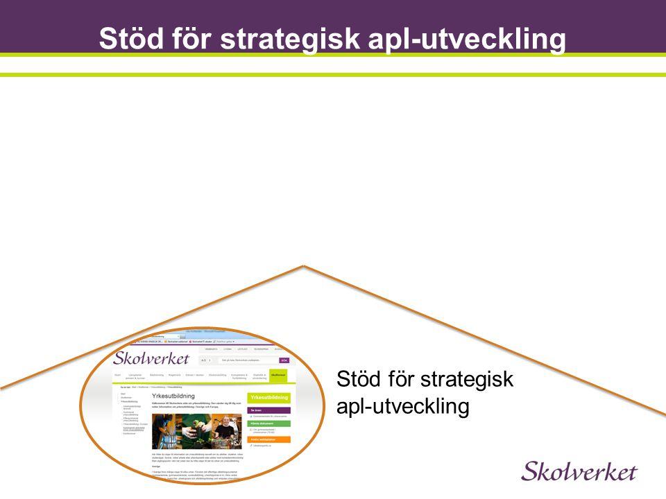 Stöd för strategisk apl-utveckling Stöd för strategisk apl-utveckling