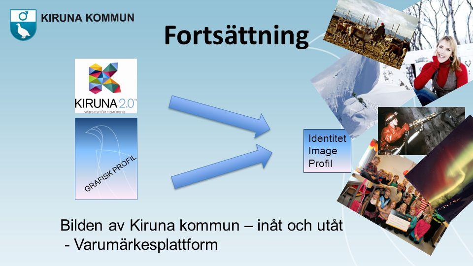 Fortsättning GRAFISK PROFIL Identitet Image Profil Bilden av Kiruna kommun – inåt och utåt - Varumärkesplattform