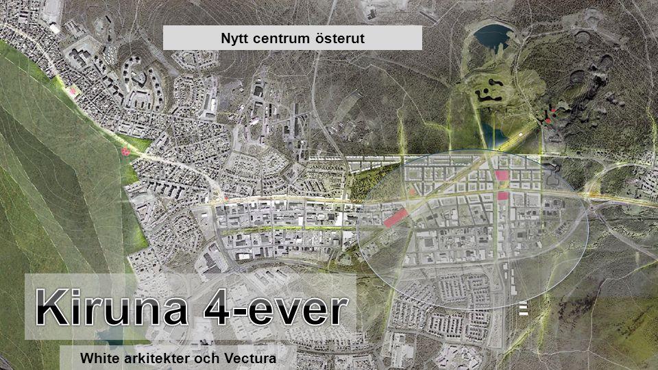 20 000 km 2 23 000 inv. 1,2 inv. / km2 Nytt centrum österut White arkitekter och Vectura