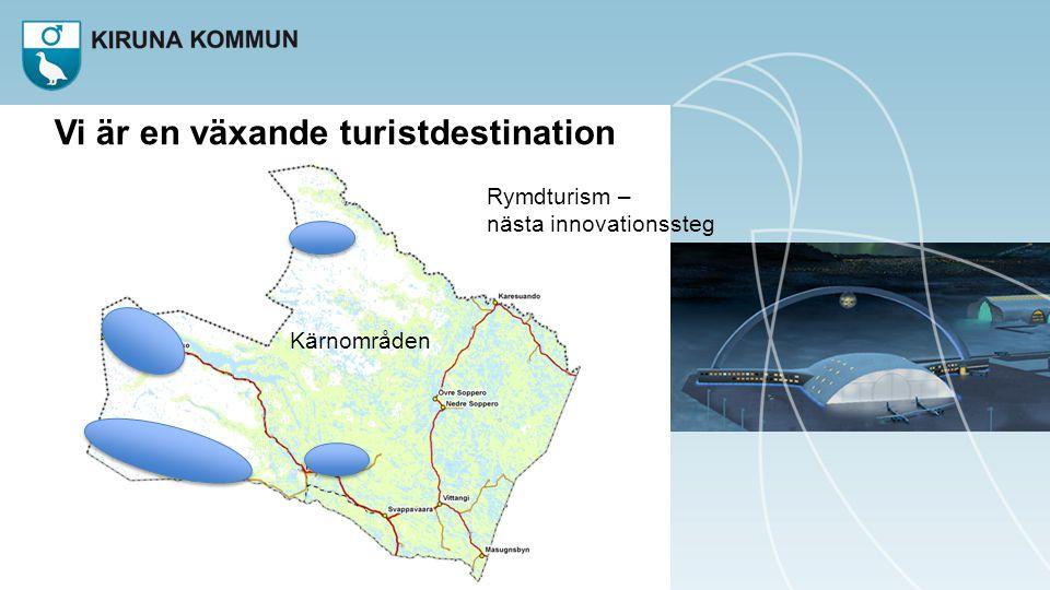 Vi är en växande turistdestination Kärnområden Rymdturism – nästa innovationssteg