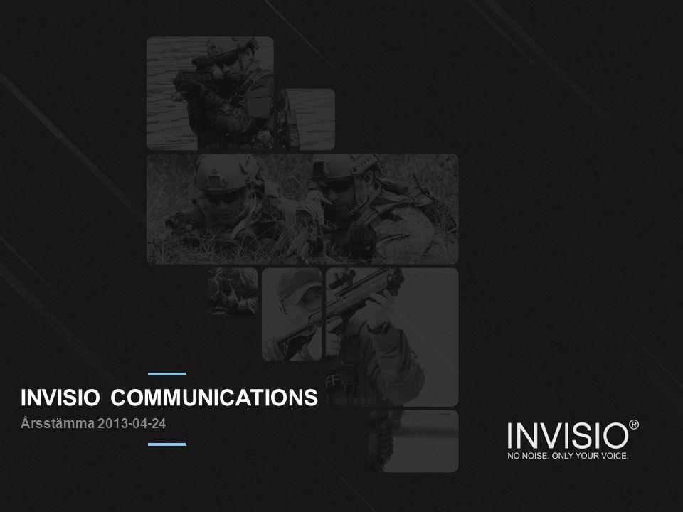 INVISIO COMMUNICATIONS Årsstämma 2013-04-24