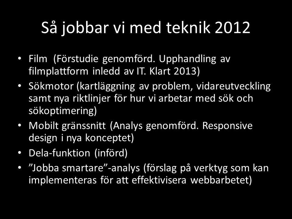 Så jobbar vi med teknik 2012 • Film (Förstudie genomförd.