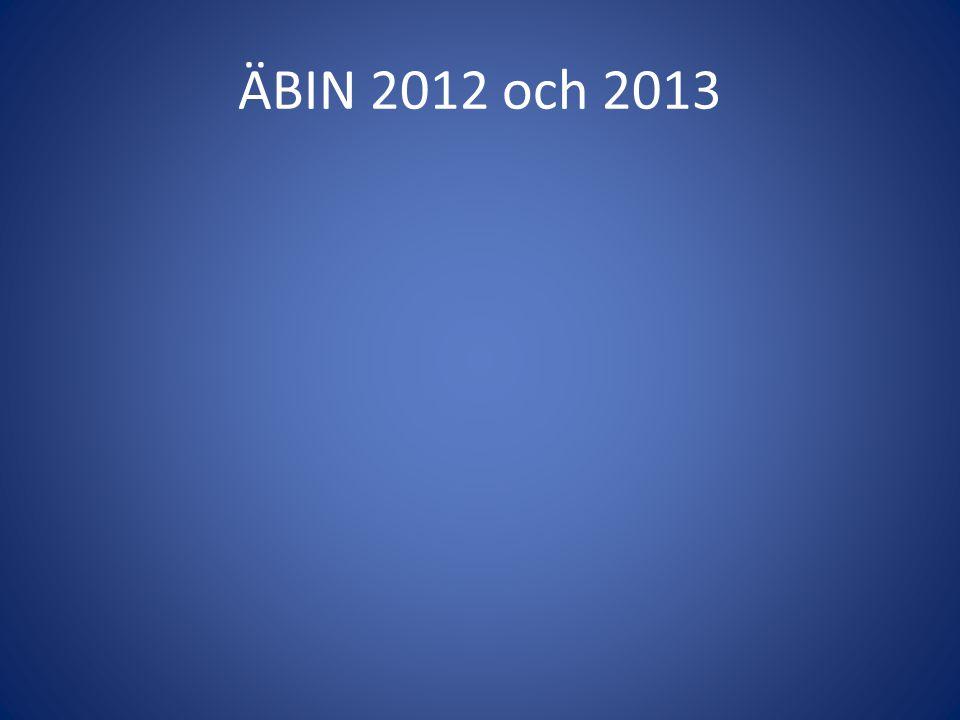 ÄBIN 2012 och 2013