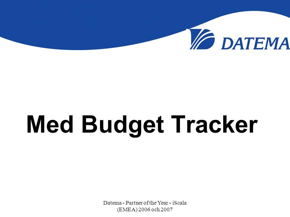 Med Budget Tracker Datema - Partner of the Year - iScala (EMEA) 2006 och 2007