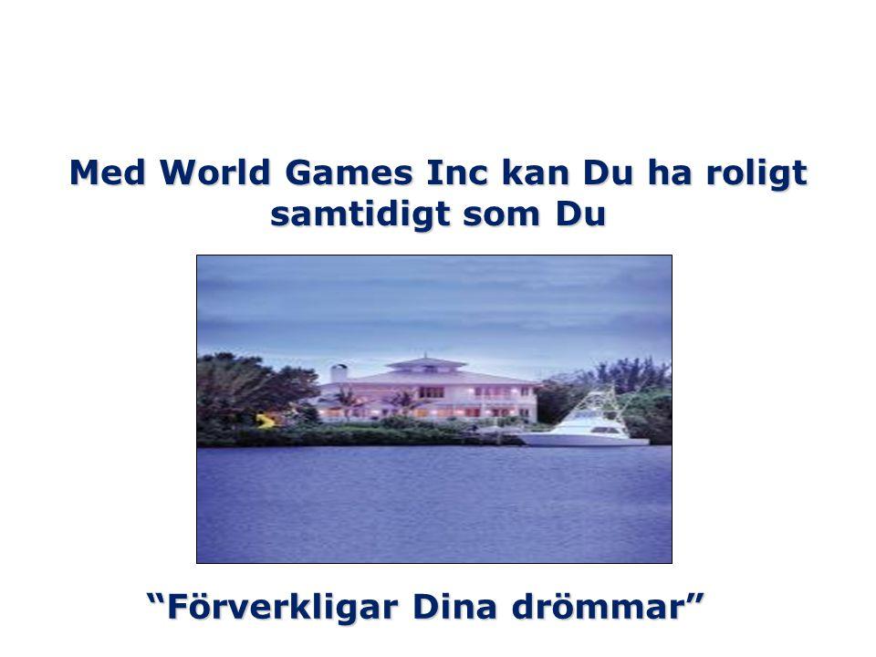 """Med World Games Inc kan Du ha roligt samtidigt som Du """"Förverkligar Dina drömmar"""""""
