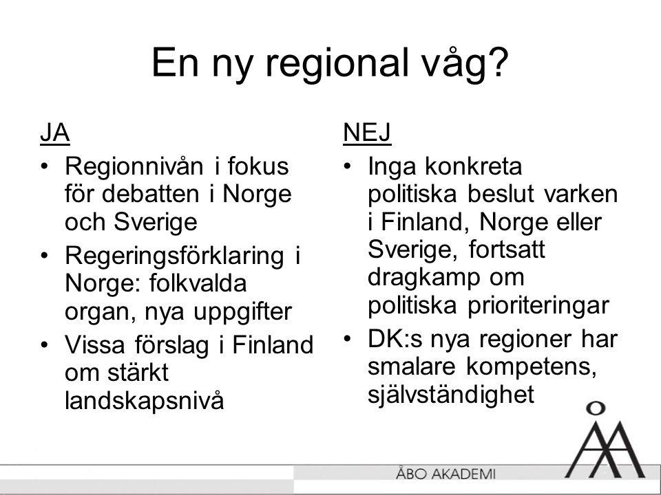 En ny regional våg.