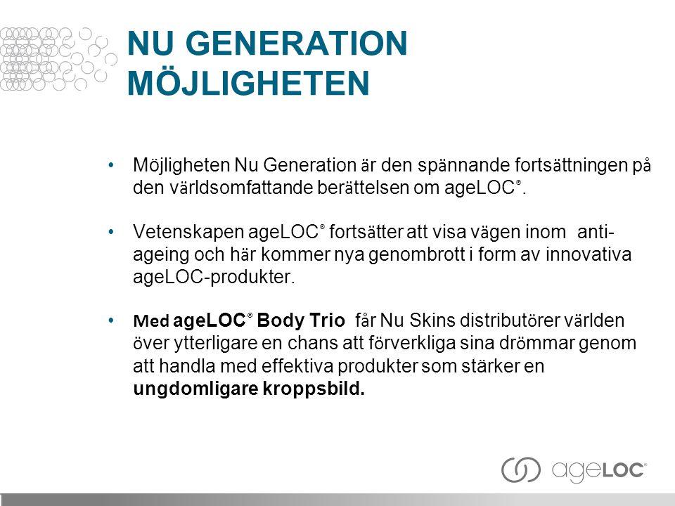 Daglig fuktighets- och konturlotion med ageLOC:s anti-ageing-f ö rdelar f ö r kroppen.