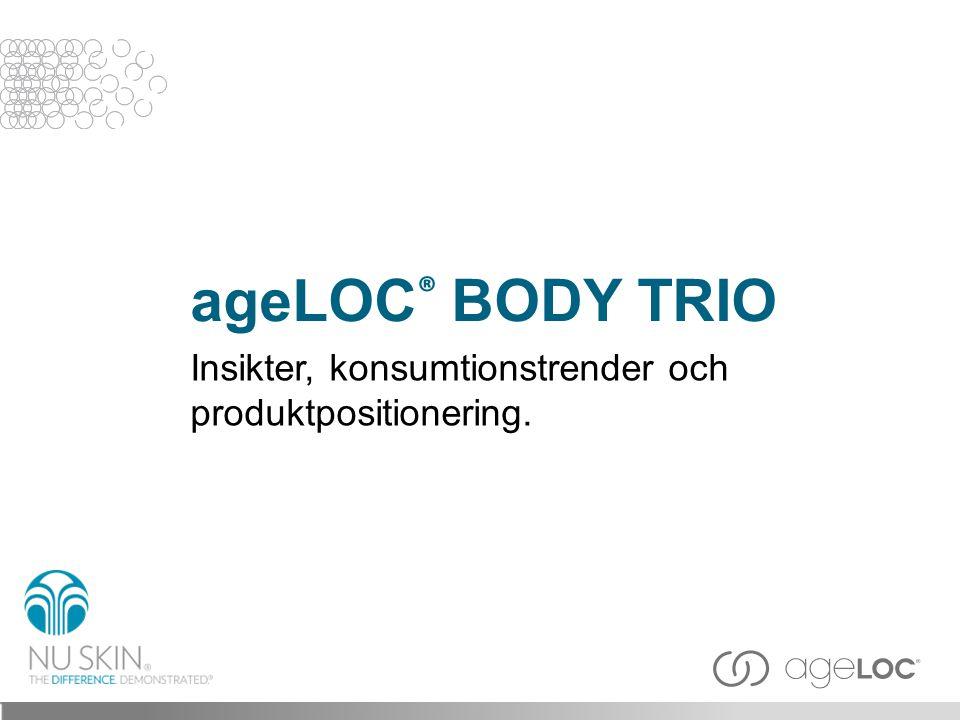 ageLOC ® BODY TRIO Insikter, konsumtionstrender och produktpositionering.