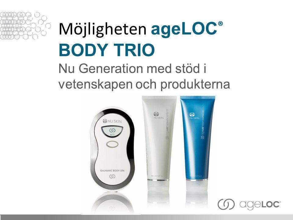 Möjligheten ageLOC ® BODY TRIO Nu Generation med stöd i vetenskapen och produkterna