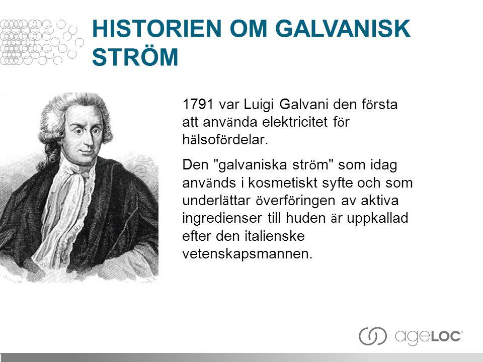 1791 var Luigi Galvani den f ö rsta att anv ä nda elektricitet f ö r h ä lsof ö rdelar. Den