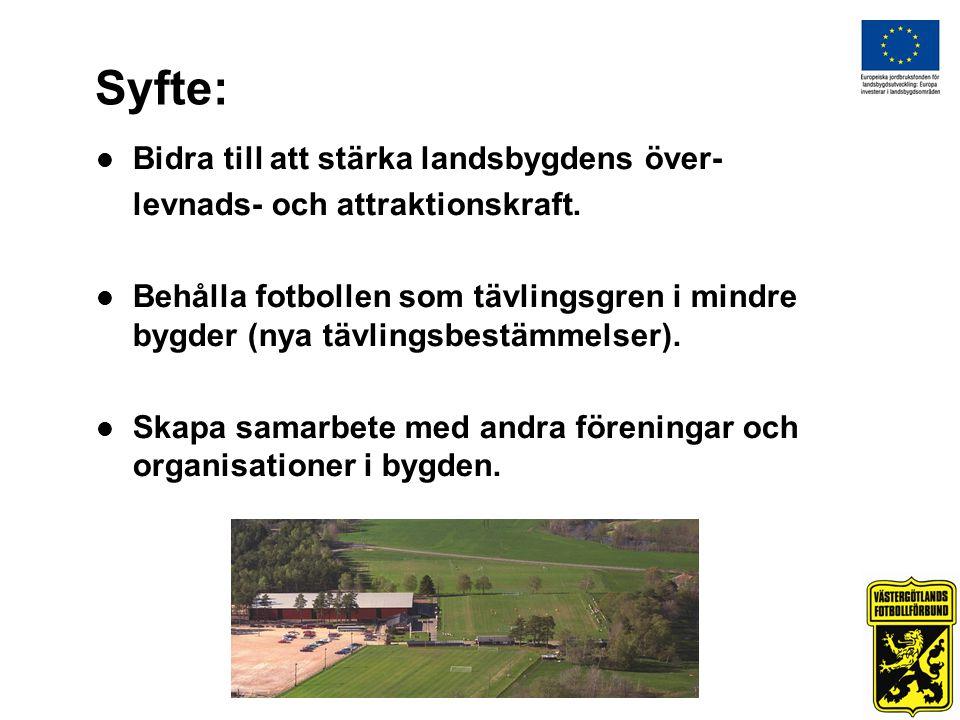 Syfte:  Bidra till att stärka landsbygdens över- levnads- och attraktionskraft.