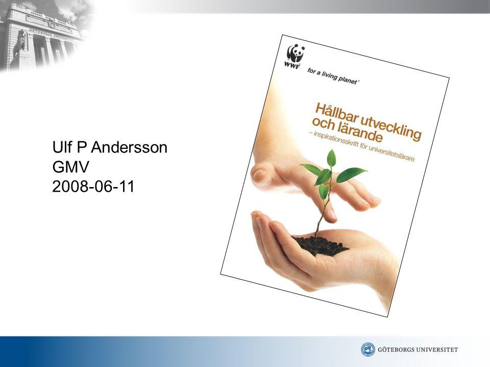 Hållbar utveckling och lärande • DEL 1: Introduktion  Vad är hållbar utveckling.