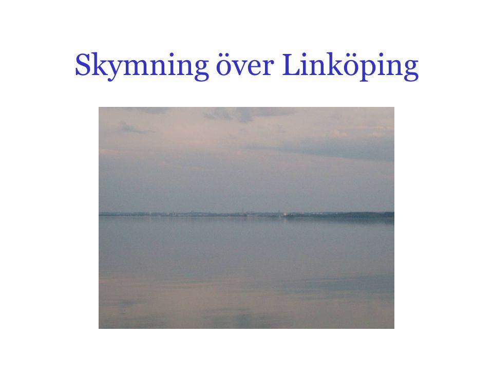 Skymning över Linköping