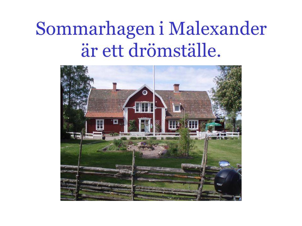 Sommarhagen i Malexander är ett drömställe.