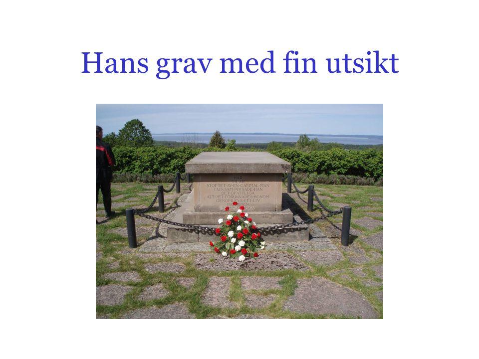 Hans grav med fin utsikt