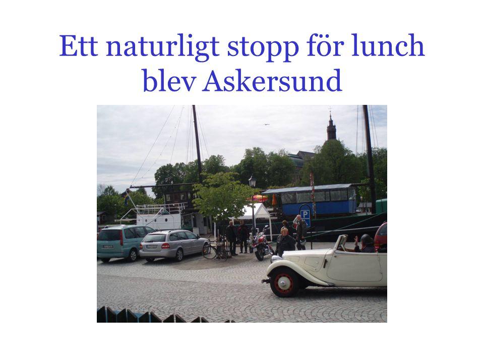 Ett naturligt stopp för lunch blev Askersund
