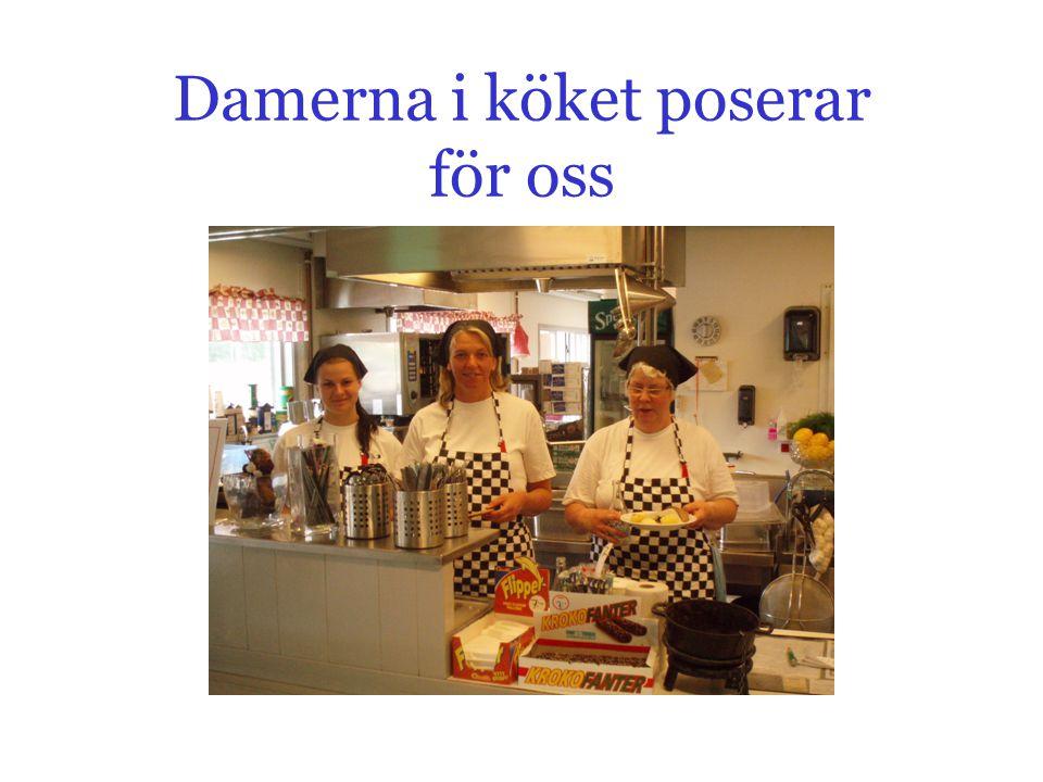 Damerna i köket poserar för oss