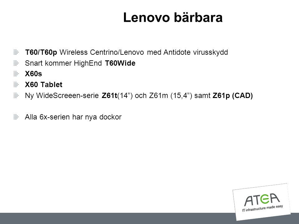 """Lenovo bärbara T60/T60p Wireless Centrino/Lenovo med Antidote virusskydd Snart kommer HighEnd T60Wide X60s X60 Tablet Ny WideScreeen-serie Z61t(14"""") o"""