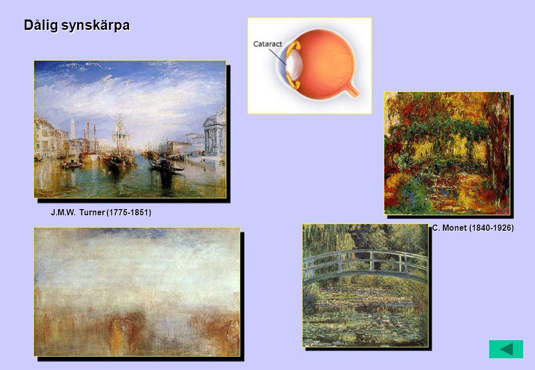 Dålig synskärpa J.M.W. Turner (1775-1851) C. Monet (1840-1926)