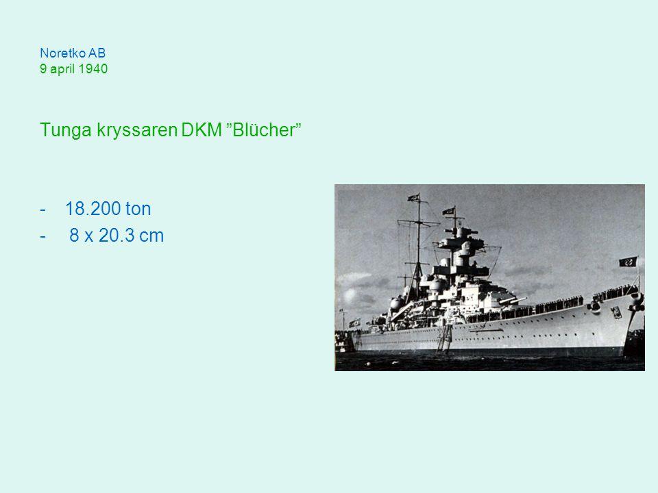 Noretko AB 9 april 1940 Tunga kryssaren DKM Blücher -18.200 ton - 8 x 20.3 cm
