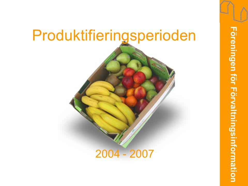 Föreningen för Förvaltningsinformation Produktifieringsperioden 2004 - 2007