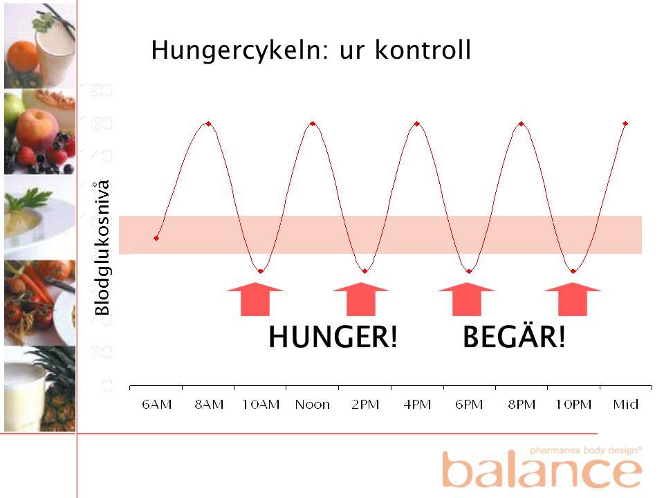 Blodglukosnivå HUNGER! BEGÄR! Hungercykeln: ur kontroll
