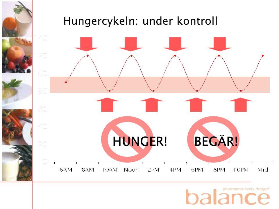 Hungercykeln: under kontroll HUNGER! BEGÄR!
