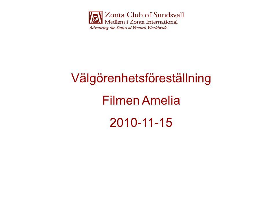 Välgörenhetsföreställning Filmen Amelia 2010-11-15