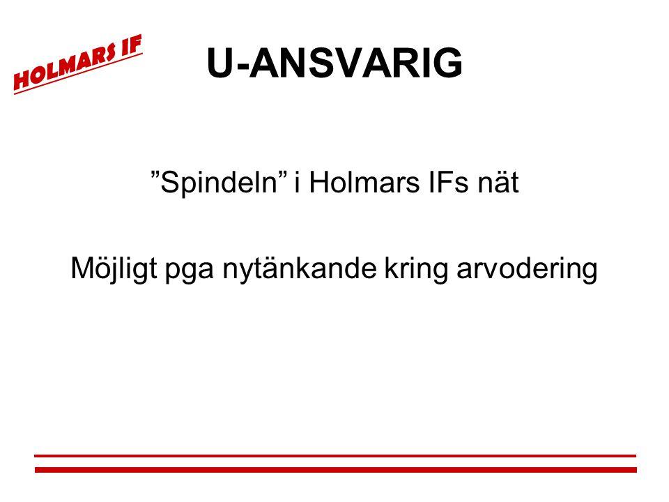 """HOLMARS IF U-ANSVARIG """"Spindeln"""" i Holmars IFs nät Möjligt pga nytänkande kring arvodering"""