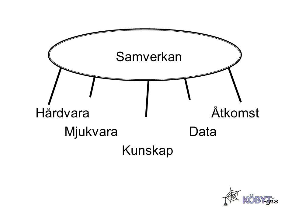 Samverkan Hårdvara Åtkomst Mjukvara Data Kunskap