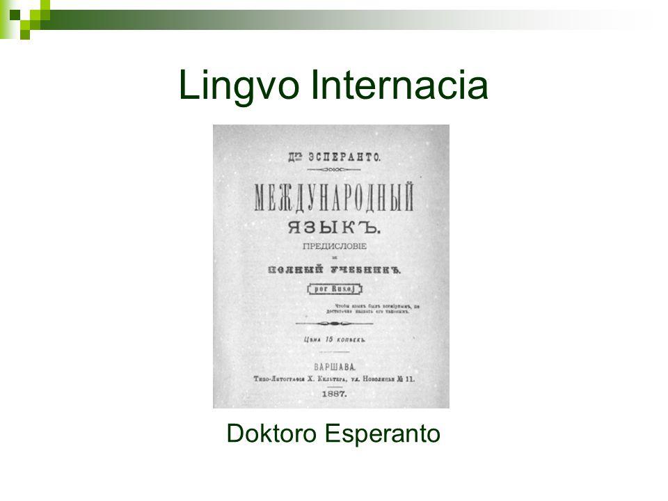 Lingvo Internacia Doktoro Esperanto