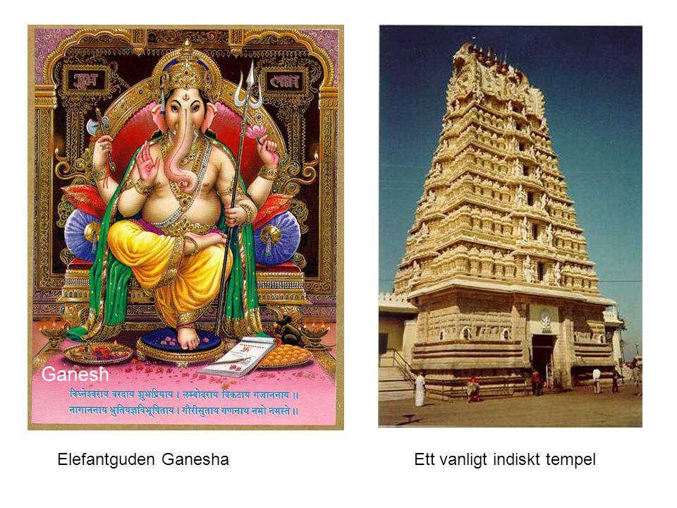 Elefantguden GaneshaEtt vanligt indiskt tempel