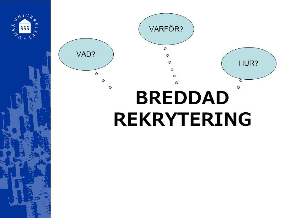 Breddad rekrytering av Linn Norén Informationsmaterial analyseras ur ett mångfaldsperspektiv.