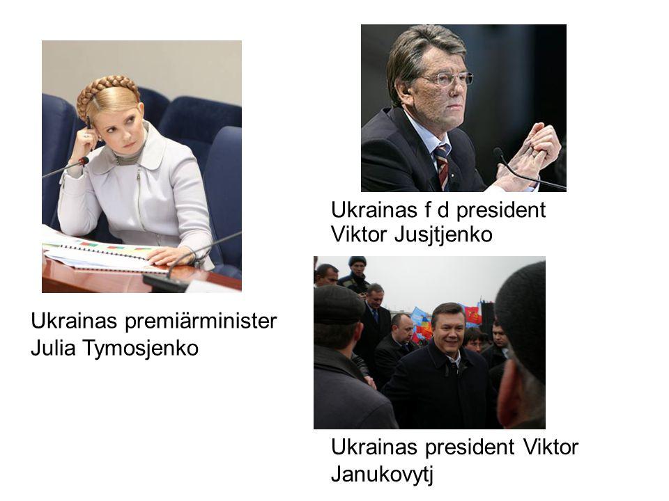 Ukrainas f d president Viktor Jusjtjenko Ukrainas premiärminister Julia Tymosjenko Ukrainas president Viktor Janukovytj