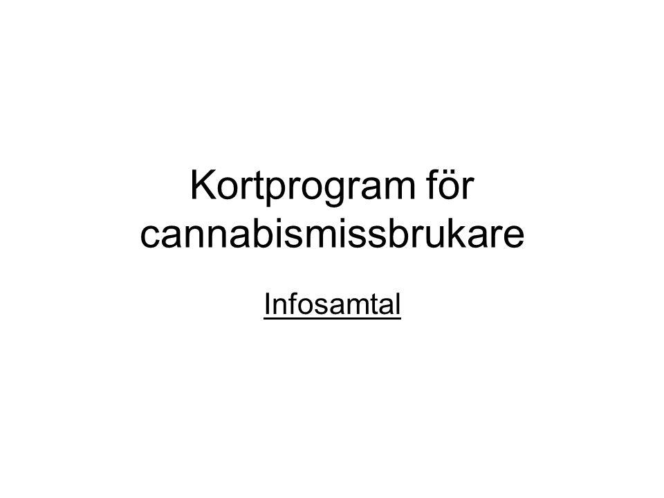 Kortprogram för cannabismissbrukare Infosamtal