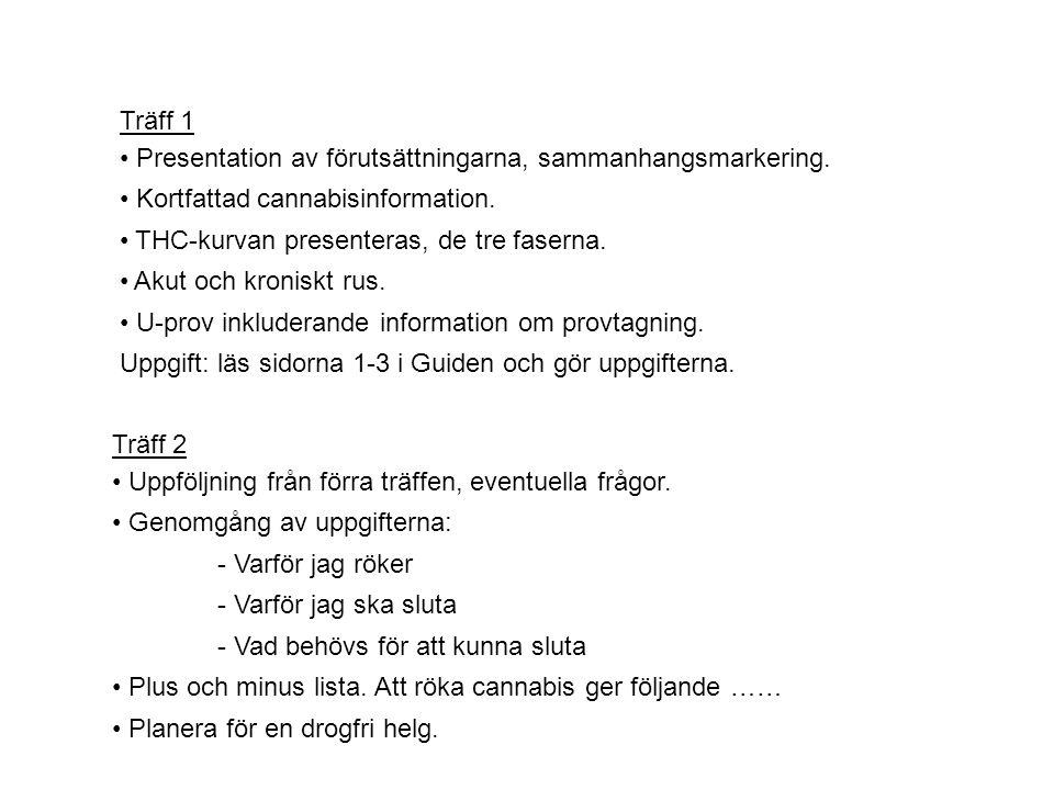 Träff 1 • Presentation av förutsättningarna, sammanhangsmarkering.