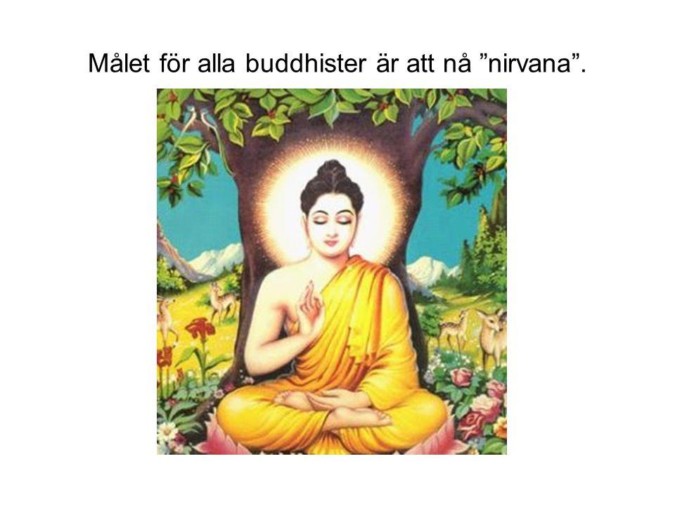 """Målet för alla buddhister är att nå """"nirvana""""."""