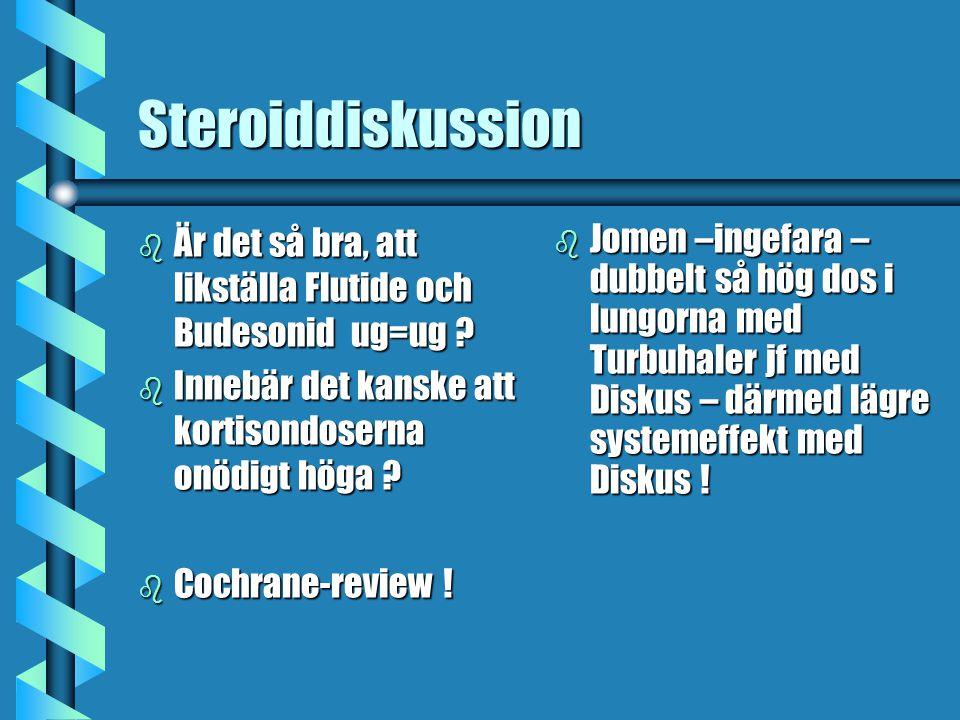 Steroiddiskussion b Är det så bra, att likställa Flutide och Budesonid ug=ug .