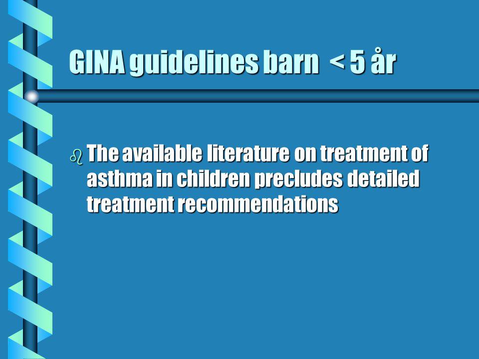 Diskussion steg 3 LTRA - LABA b Antileukotriener som alternativ i GINA, steg 2,3,4 – varför inte harmonisera- dessutom bör ju effekterna på näsa betraktas, nästan alla har rinit, ju .