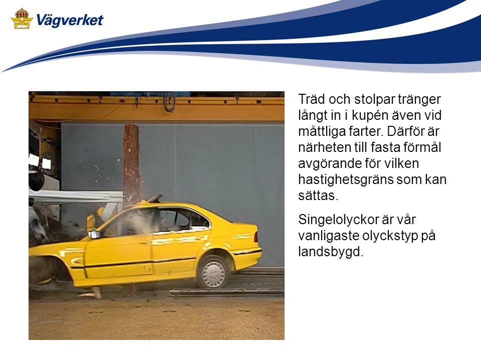 Åtgärder för ökad acceptans av hastighetsgränser •Information som förklarar på vilken grund nya hastighetsgränserna sätts •Automatisk trafiksäkerhetskontroll ATK –700 nya kameror 2006-2007 •Variabla hastighetsgränser som anpassas efter väglag, trafikflöde mm •Polisnärvaro på vägarna vid införande •Minskad toleransgräns •Böter vid överträdelser •Intelligenta fartsystem ISA