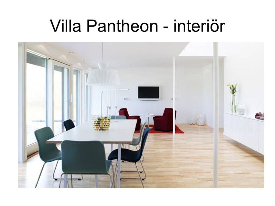 Villa Pantheon - interiör