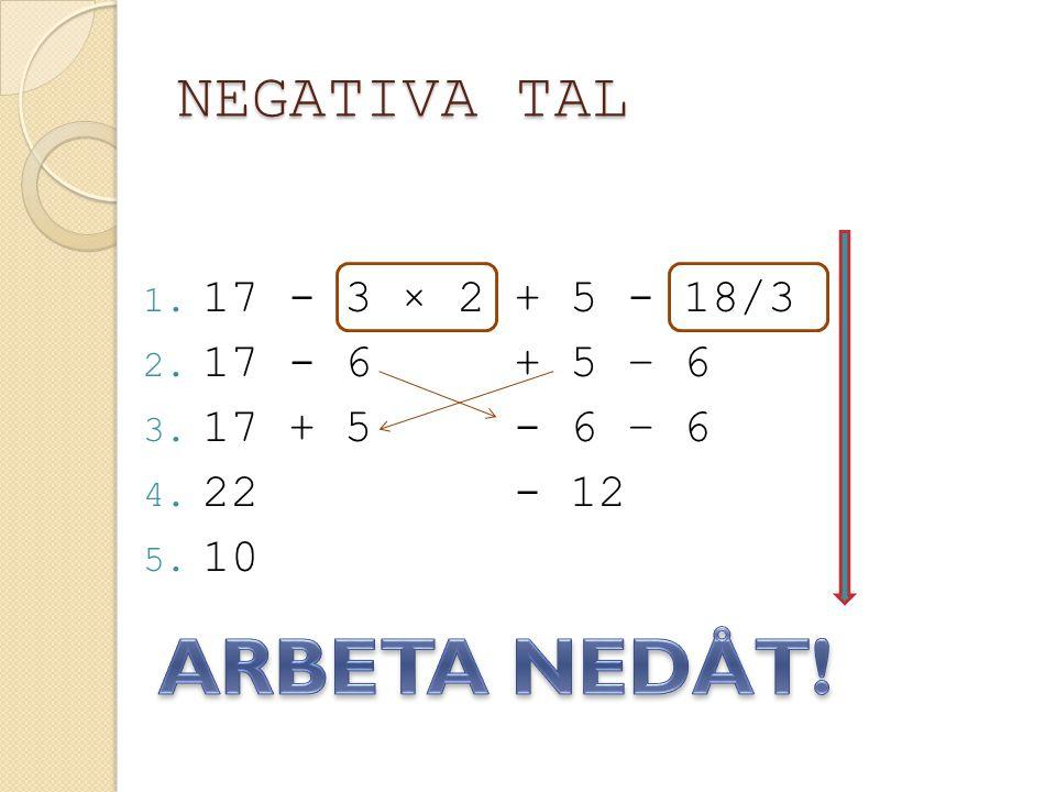 TALLINJEN  Skillnad mellan 3 och (-3)?  3 – (-3)= 6 2014-01-21